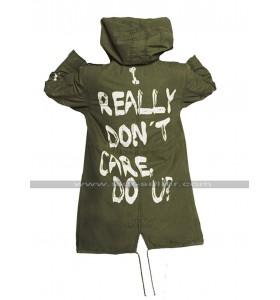 Melania Trump I Really Don't Care Do U Jacket Cargo Cotton Coat