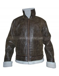 Men Shearling Heavy Winter Distressed Jacket