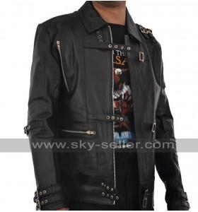 Michael Jackson Bad Black Leather Costume Jacket