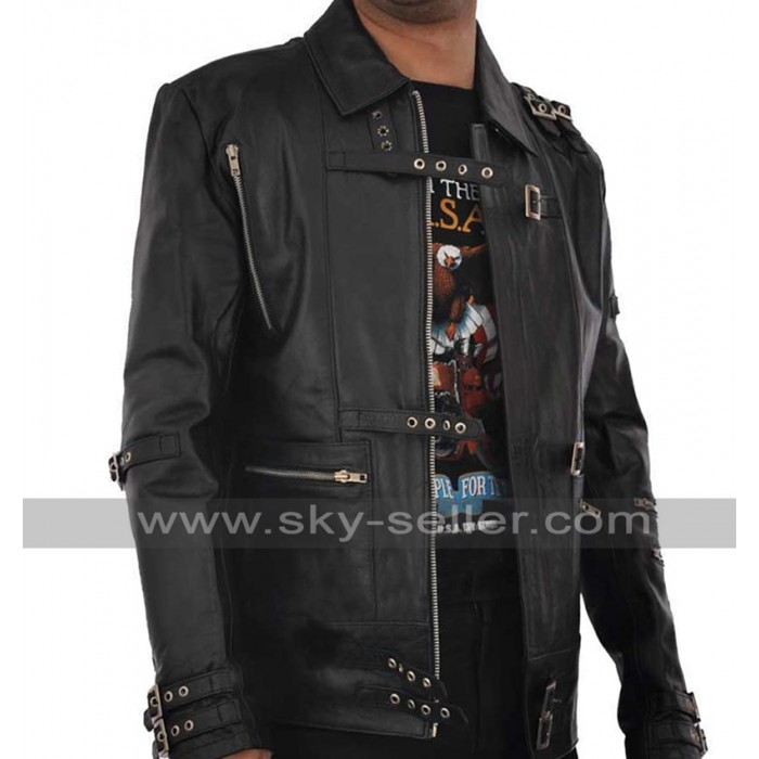Michael Jackson Bad Black Leather Costume Jacket