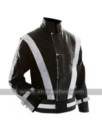Michael Jackson Black with White Stripes Thriller Jacket