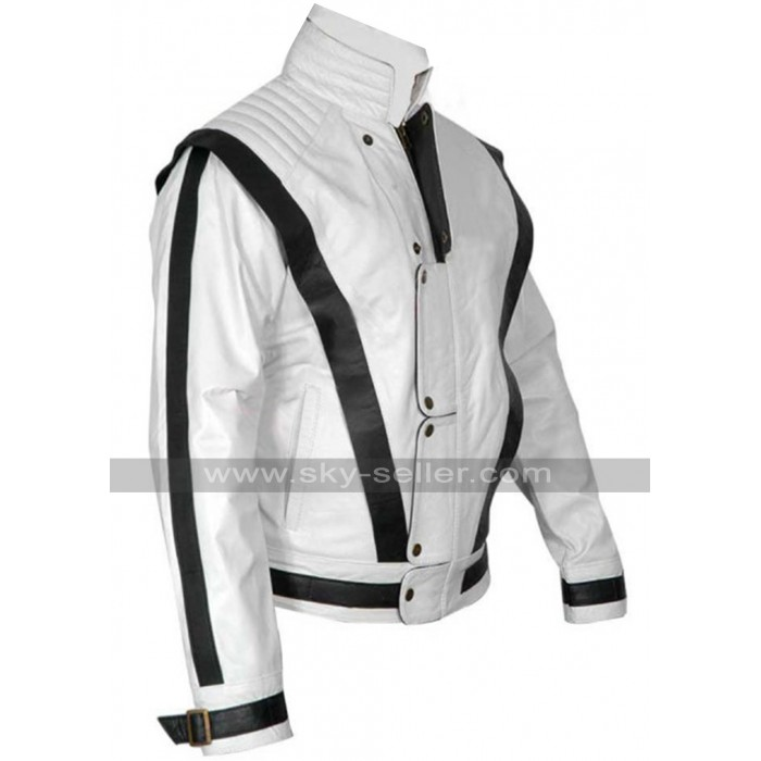 Michael Jackson Thriller White Suit Leather Jacket
