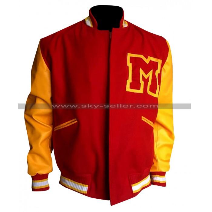 Michael Jackson M logo Letterman Red & Yellow Varsity Bomber Jacket