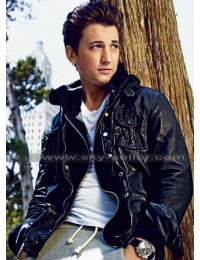 Miles Teller Black GQ Leather Jacket for Sale