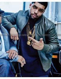 OShea Jackson Jr. Den of Thieves Black Leather Jacket