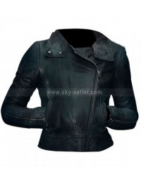 Olivia Dunham Fringe Biker Leather Jacket