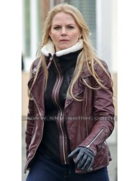 Once Upon a Time Emma Swan Brown Leather Jacket