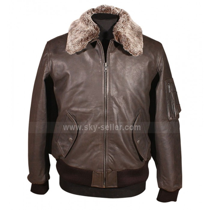 Pilot Vintage Men A2 Bomber Leather Brown Jacket