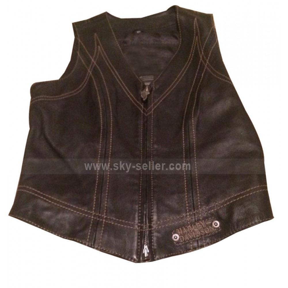 Harley Davidson Womens Biker Leather Vest