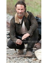 Rick Grimes Walking Dead Season 5 Fur Jacket