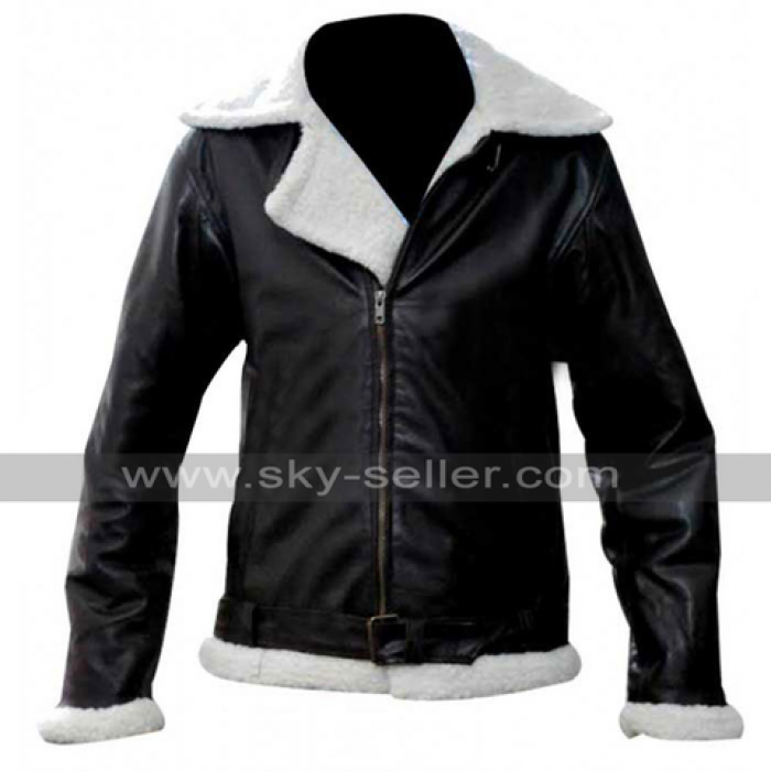 Rocky 4 Balboa (Sylvester Stallone) Bomber Shearling Winter Flying Jacket