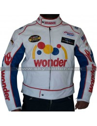 Talladega Nights Ricky Bobby Wonder White Racing Jacket