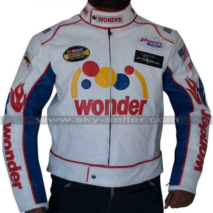Talladega Nights Ricky Bobby Wonder White Racing Jacket
