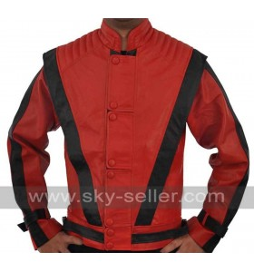 Thriller Red Costume Leather Jacket - Michael Jackson