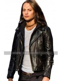 Tomb Raider Alicia Vikander Black Leather Jacket