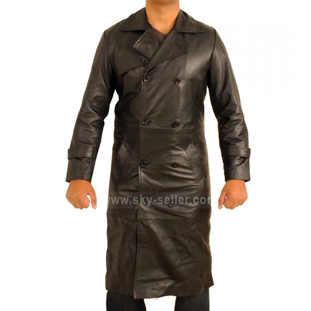 Total Recall Colin Farrell Black Trench Coat