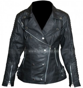 Burberry Prorsum Quilted Ali Larter Black Mototrcycle Style Jacket