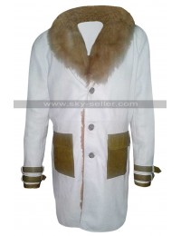 Vin Diesel Return of Xander Cage XXX White Leather Fur Coat