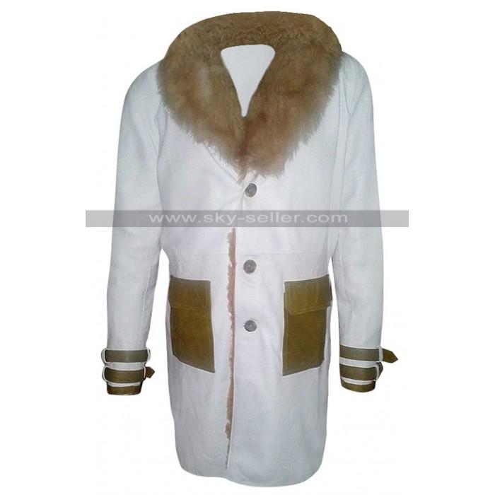 Vin Diesel Return of Xander Cage XXX White Leather Fur Coat