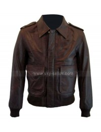 Vintage Fit 1930's Classic Bomber For Men Leather Jacket