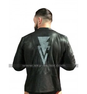 RAW WWE Finn Balor Quilted Brando Biker Black Leather Jacket