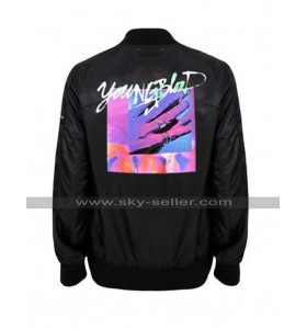 Michael Clifford Youngblood 5SOS Black Bomber Satin Jacket