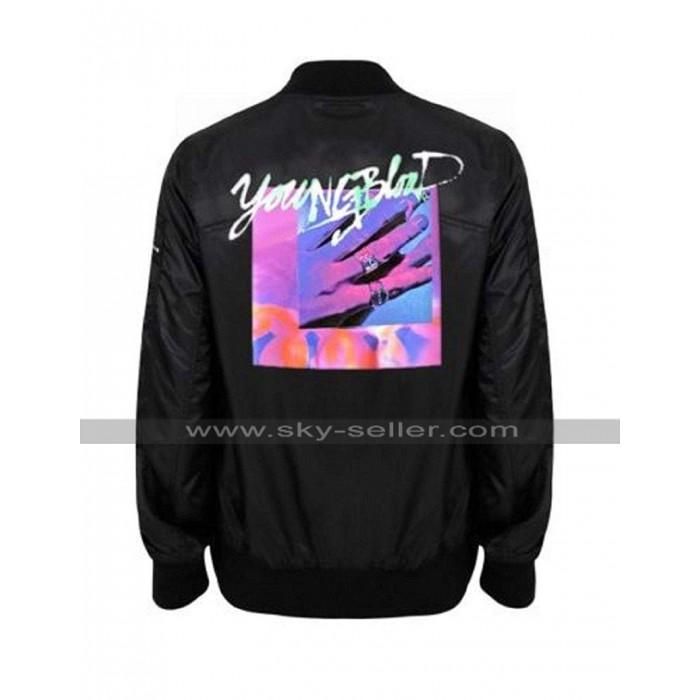 Michael Clifford Youngblood 5SOS Black Bomber Satin Jacket