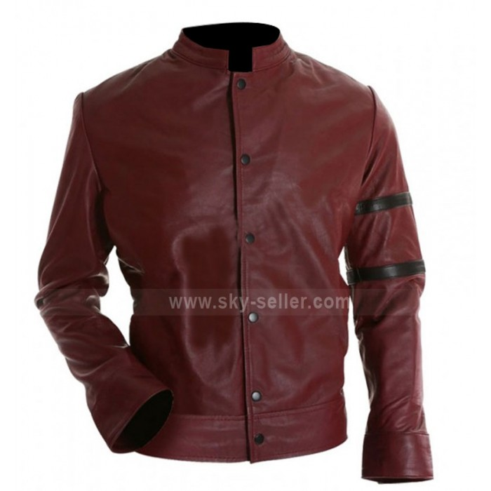 Fast and Furious Vin Diesel Red Leather Jacket