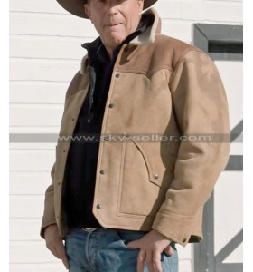Yellowstone S03 John Dutton Suede Leather Jacket