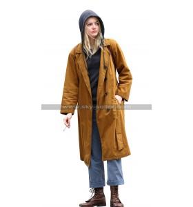 Emma Stone Maniac Annie Landsberg Brown Cotton Trench Coat