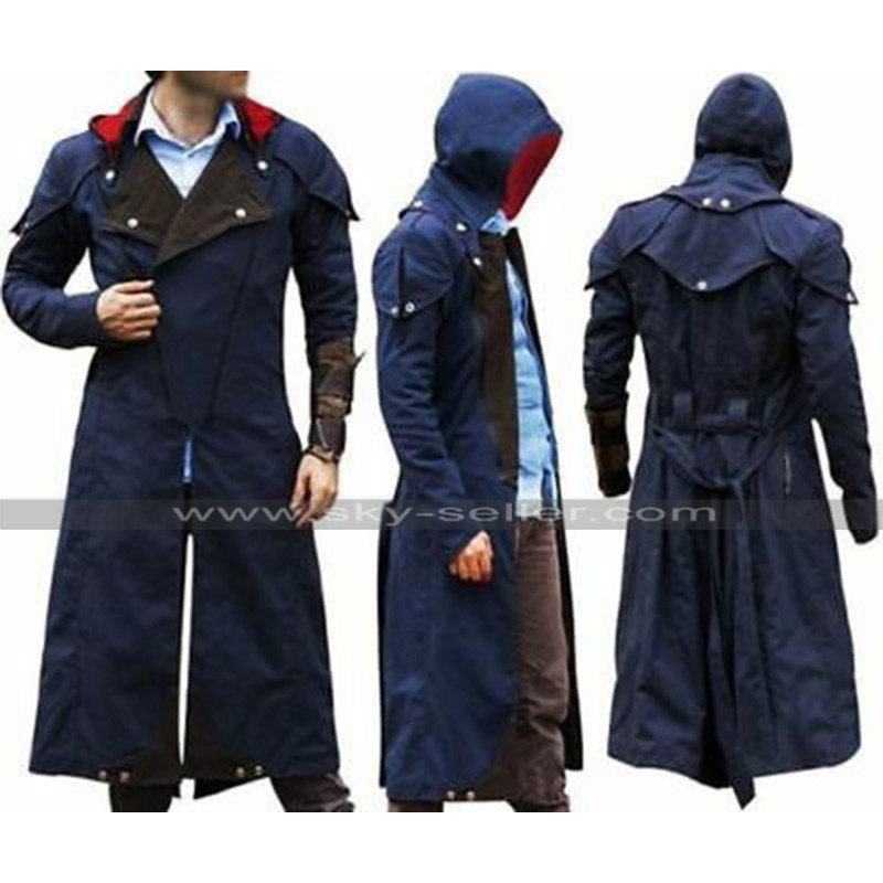 Assassins Creed Unity Arno Victor Dorian Costume Cloak Denim