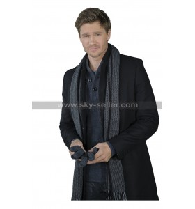 Chad Michael Murray Write Before Christmas Luke Cotton Long Black Coat