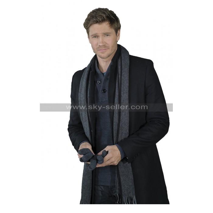Chad Michael Murray Write Before Christmas Luke Cotton Long Black Coat