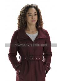 Chaley Rose A Christmas Duet Averie Davis Burgundy Wool Coat For Winter