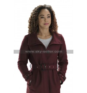 Chaley Rose A Christmas Duet Averie Davis Burgundy Wool Coat For Winter