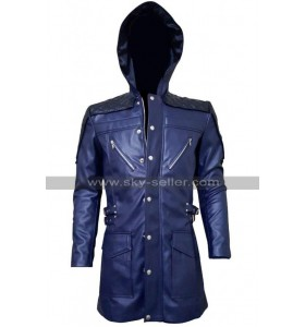 DMC Nero Devil May Cry 5 Leather Jacket With Hood