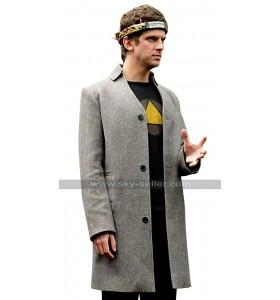 David Haller Legion Dan Stevens Grey Wool Coat