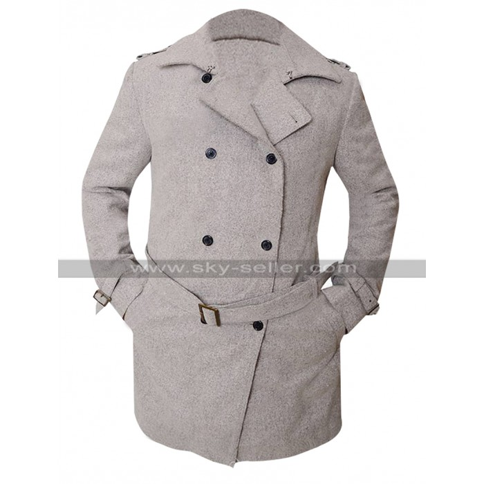Ben Affleck Batman v Superman Dawn of Justice Bruce Grey Wool Coat