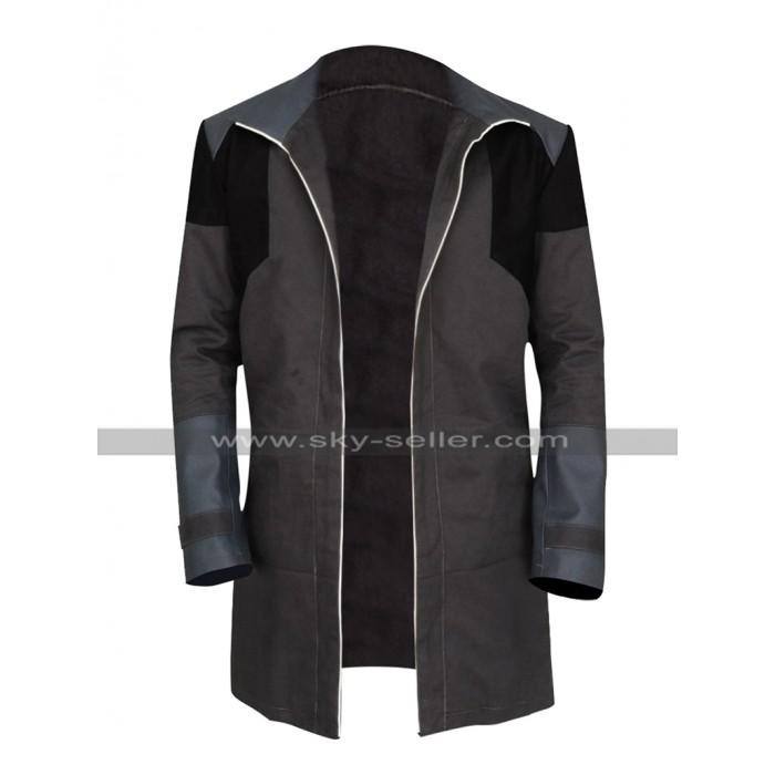 Detroit Become Human Android RK200 Markus Black Costume Cotton Coat