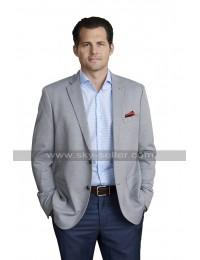 Kristoffer Polaha Coat Double Holiday Christsmas Jacket Grey Suit Blazer