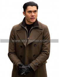 Henry Golding The Gentlemen Dry Eye Brown Wool Trench Coat
