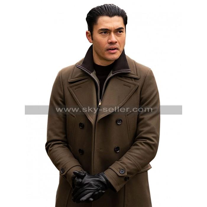 Henry Golding The Gentlemen Dry Eye Brown Wool Trench Coat