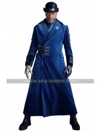 Nathaniel Moon Into the Badlands Sherman Augustus Blue Wool Coat