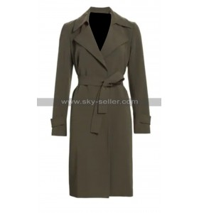 Torrey DeVitto Write Before Christmas Jessica Olive Wool Coat