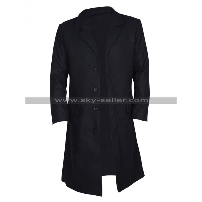Keanu Reeves John Constantine Black Cotton Trench Coat