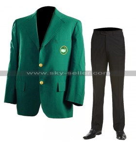 Masters Tournament Augusta Golf Club Jacket Green Tiger Woods Blazer Coat & Pants