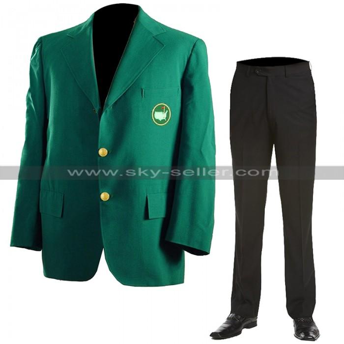 Masters Tournament Augusta Golf Club Jacket Green Tiger Woods Blazer Coat & Pants