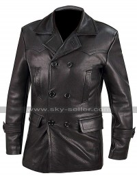 German Classic Officer WW2 Submarine Imperial Navy U-Boat Captain Leather Coat