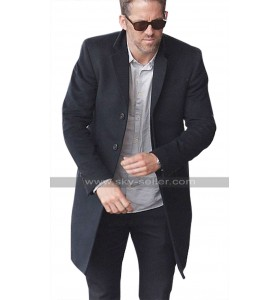 Ryan Reynolds The Hitmans Bodyguard Michael Bryce Black Wool Trench Coat