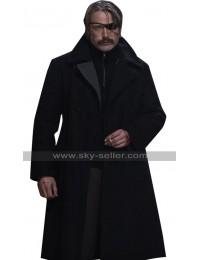 Duncan Vizla Netflix Polar Mads Mikkelsen Black Wool Coat
